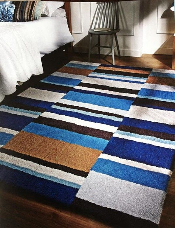 Dle Track Teal Ochre Rug Rugs