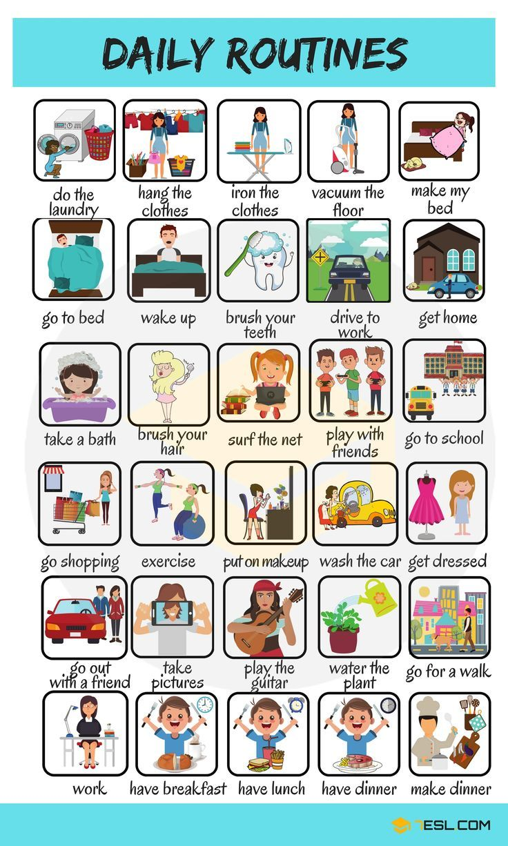 Daily Routines: Useful Words to Describe your Daily ...