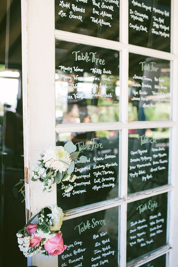 window seating chart - photo by Vis Photography http://ruffledblog.com/handcrafted-boho-woodsy-wedding #seatingchart #weddingideas #rusticwedding