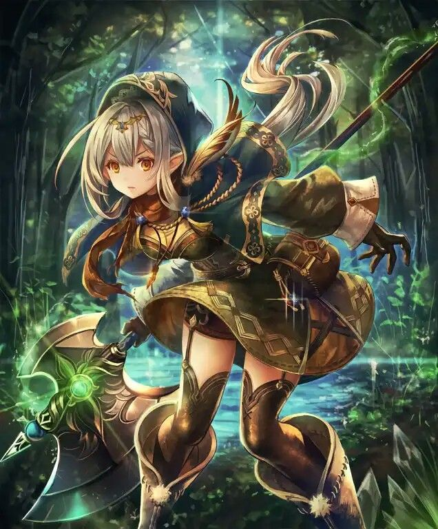 Pin By Lwx On Shadowverse Anime Warrior Girl Anime Warrior Anime Elf