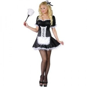 Lacy French Maid Plus Size Costume - womensplussizecostumes.org