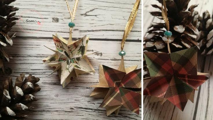 Manualidades para Navidad: Como hacer Estrellitas para adornar el árbol ...
