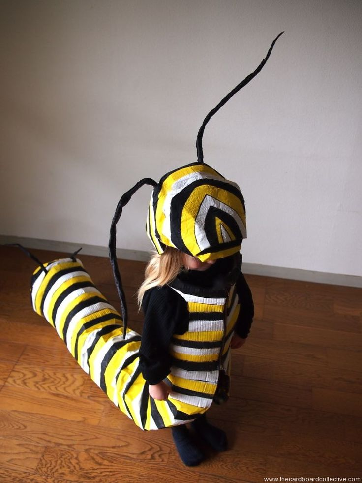 The Cardboard Collective: Monarch Caterpillar Costume.....it has wheels.
