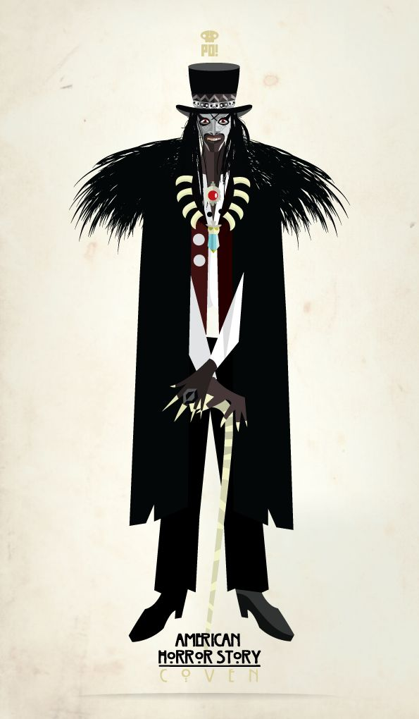 """Everybody pays, everybody suffers.""  my last American Horror Story Coven Fan ART - Papa Legba"