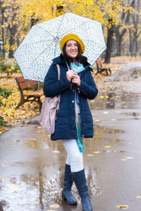 """""""Cântând în ploaie""""... Buline și galben tomnatic"""