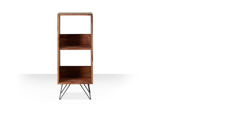 Swoon Editions Bookcase, mid-century style in rosewood - £179