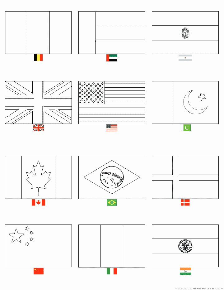 Country Flags Coloring Pages Luxury Country Flags Coloring Pages Flag Coloring Pages Flags Of The World World Flags Printable