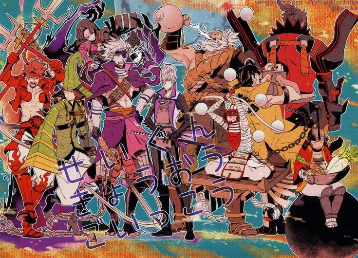 Tags: Fanart, Sengoku Basara, Sanada Yukimura (Sengoku Basara), Motochika Chosokabe (Sengoku Basara), Mori Motonari (Sengoku Basara), Oichi ...