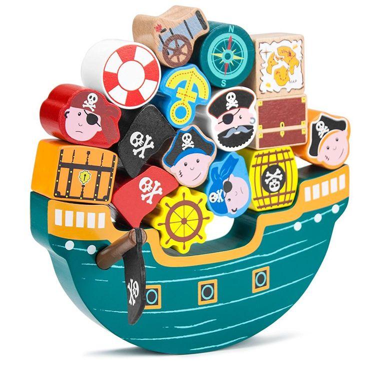 Amazon.com: Imagination Generation Blockbeard's Balance Boat Balancing Game…