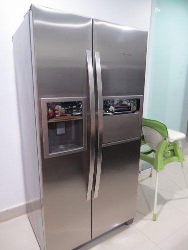 geladeira side by side inox eletrolux 504lts 220w novíssima