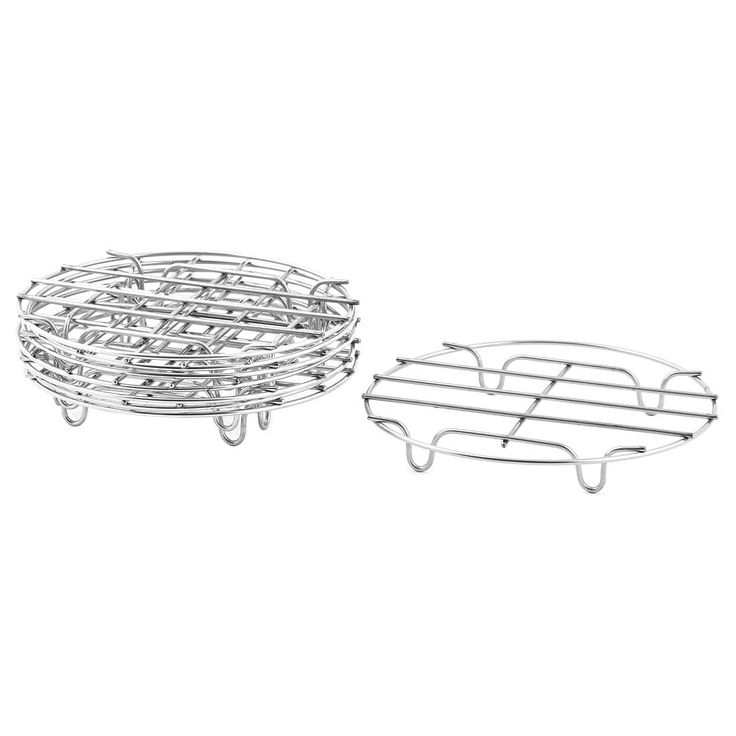 Stainless Steel Cooker Steam Rack Cooking Ware Steaming Stand Silver Tone 8 PCS