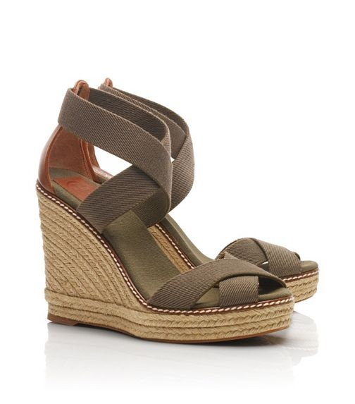 Tory Burch Adonis wedge espadrille in olive/almond-perfect summer sandal