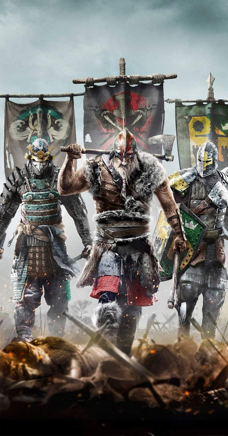 Games wallpapers | For Honor Game Wallpapers http://www.fabuloussavers.com/For_Honor_Game_freecomputerdesktopwallpaper.shtml