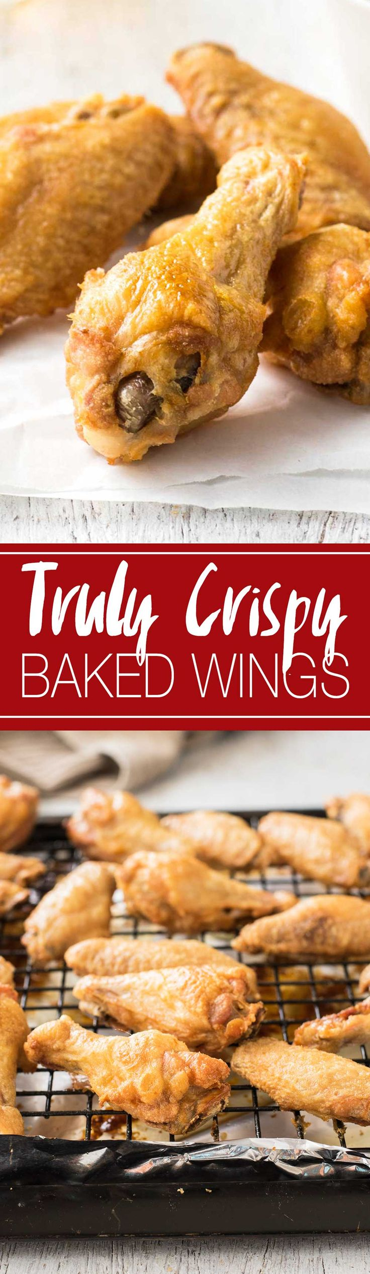 Truly Crispy BAKED Wings   I NEVER make wings any other way, these are incredible!!! They seriously come out sooooooooo CRISPY!!!