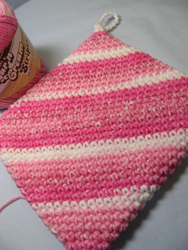Knit Hot Pad Pattern : 1002 best images about Crochet/Yarn Crafts on Pinterest Free pattern, Croch...