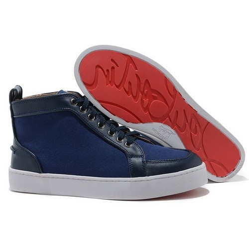 3a656174d8fd ... promo code for christian louboutin rantus orlato high top womens  sneakers blue 160.00 0d7df f53fd