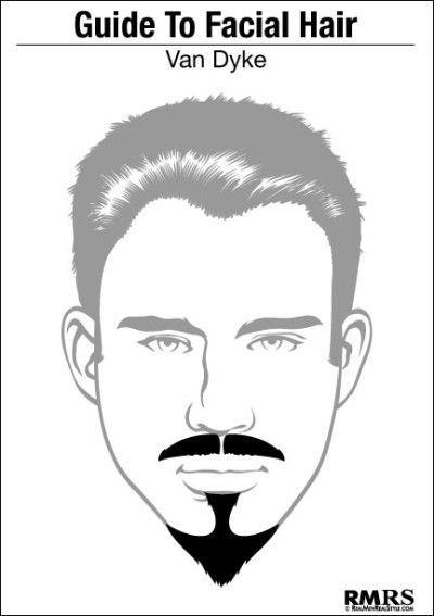 An Image of the Van Dyke Beard