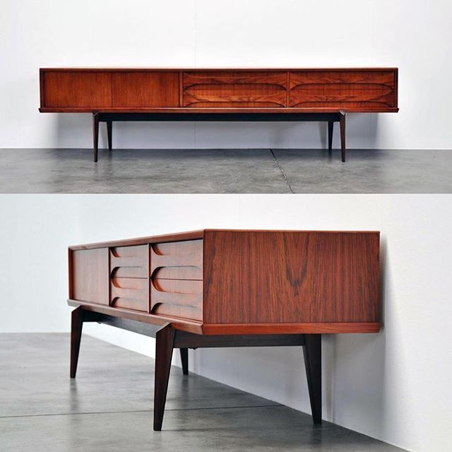 WEBSTA @ dc_hillier - A low sideboard designed by Oswald Vermaercke. Made from rosewood the 'Paola' sideboard was made by V-Form of Belgium in 1959. Photo: mid Mod-design #mcmdaily #oswaldvermaercke #vform #belgium🇧🇪 mcmdaily.com