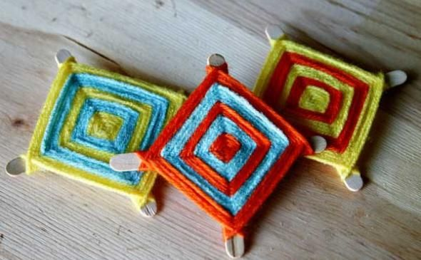 Ojo de dios christmas decoration navidad y las posadas for Mexican christmas ornaments crafts