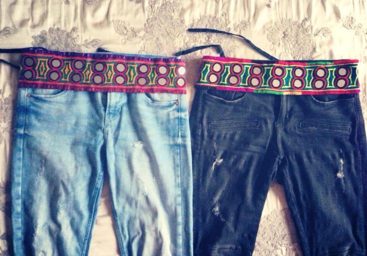 Cinturones hechos a mano con espejitos redondos. Todos distintos!! . 19 euros con el envio!