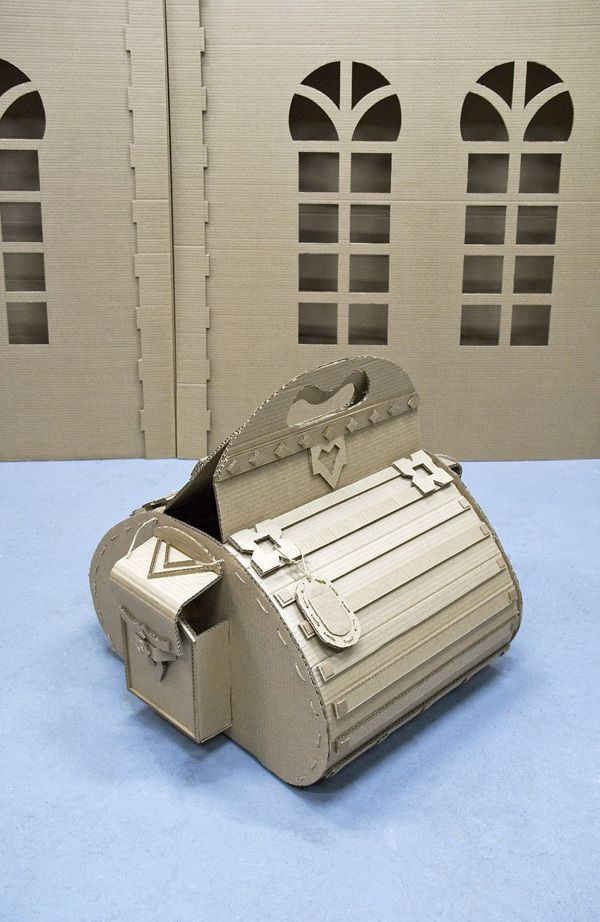 """Decorations for """"Baggage"""" exibition by Cardboardia , via Behance"""