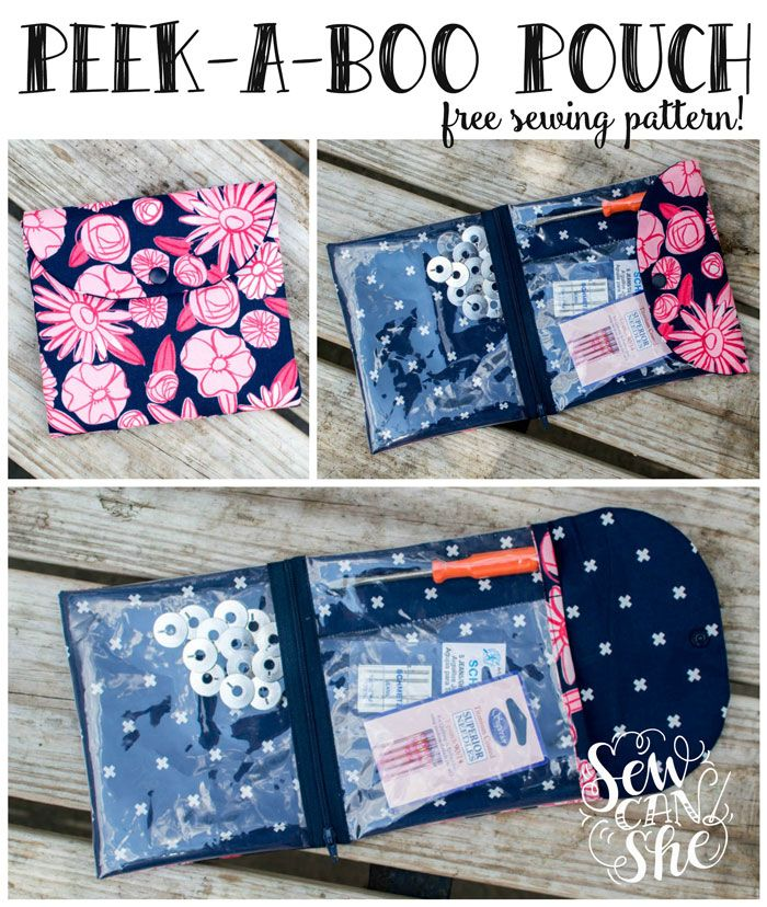 The Peek-a-Boo Pouch {free sewing pattern} — SewCanShe   Free Daily Sewing Tutorials