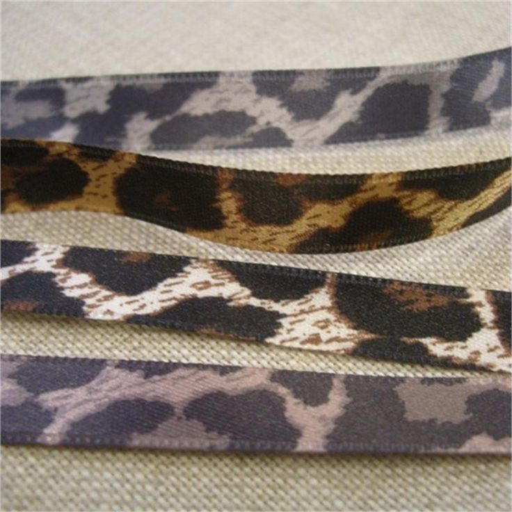 Leopard Print Ribbon 10mm