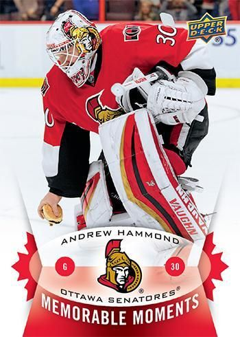 Upper Deck has made a hockey card out of @Senators goaltender Andrew Hammond picking up a hamburger... DO YOU SEE THE SPELLING MISTAKE!