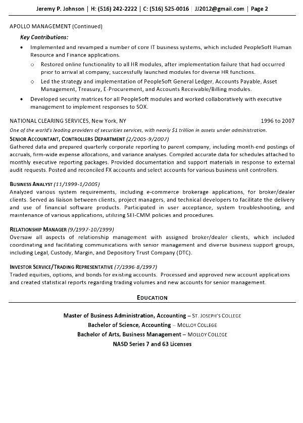Corporate Resume Examples Finance Executive Resume Samples