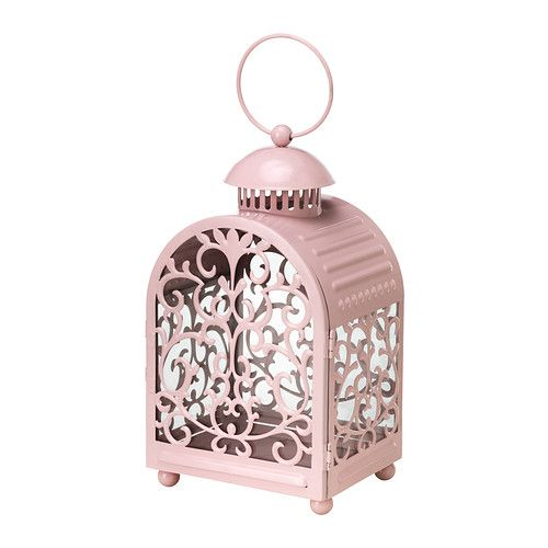 How sweet are these?! They could always be spray painted into any wedding color. IKEA GOTTGÖRA Pink lantern for tealight.