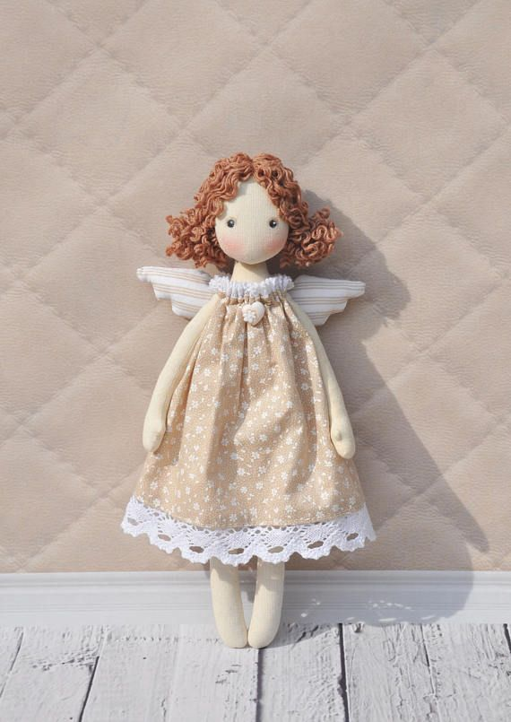 Textile doll Tilda angel doll Ragdoll