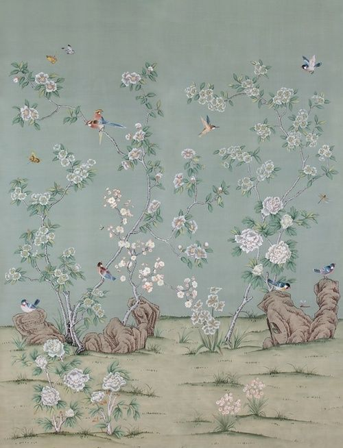 Berengia paul montgomery chinoiserie wallpaper tendance d co pinterest - Papier peint chinoiserie ...