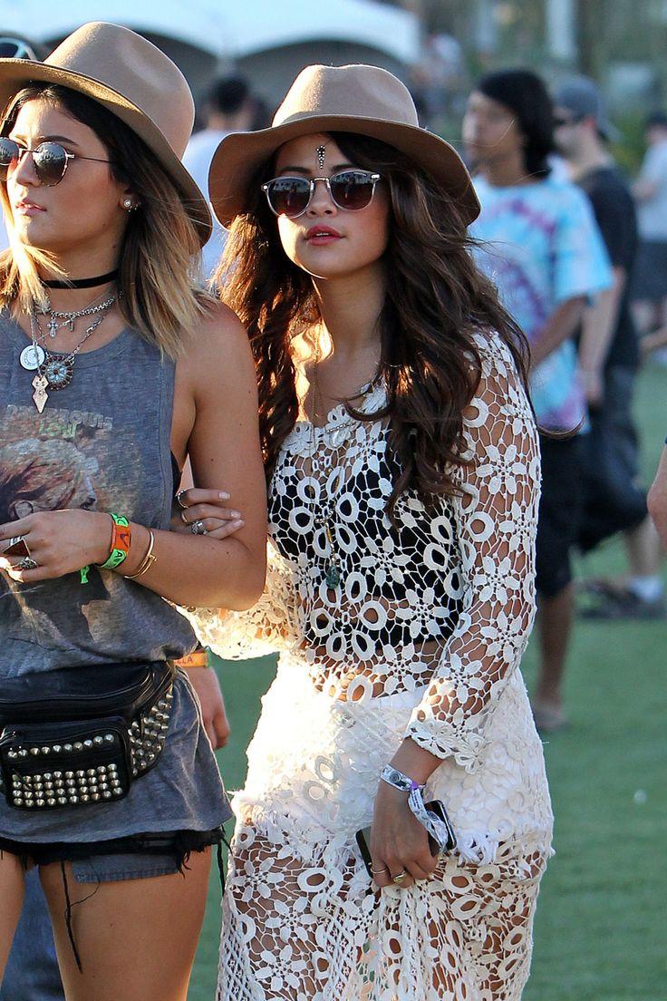 Selena Gomez & Kylie Jenner. Coachella