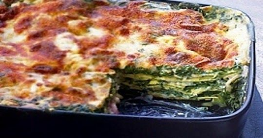 Como hacer una Lasaña de espinacas rapida   Recetas de Cocina faciles.