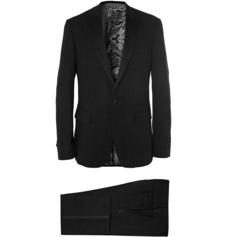 #Etro Silk-Trimmed Wool-Crepe Tuxedo