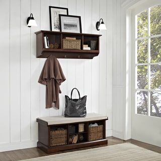 Shop for Brennan 2 Piece Entryway Bench and Shelf Set in Mahogany. Get free shipping at Overstock.com - Your Online Furniture Outlet Store! Get 5% in rewards with Club O! - 22435983