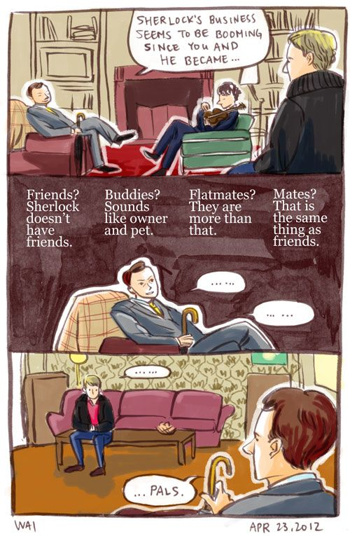 I don't know why but I honestly thought this was one of the funniest Sherlock comics I've ever read.