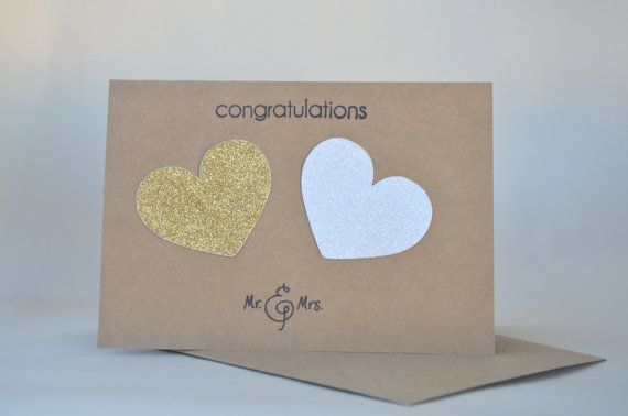 Wedding Card Congratulations Card Mr and Mrs Card by FreshGifts