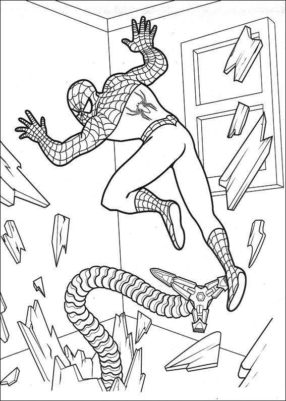 Spiderman 34 Ausmalbilder für Kinder. Malvorlagen zum ...