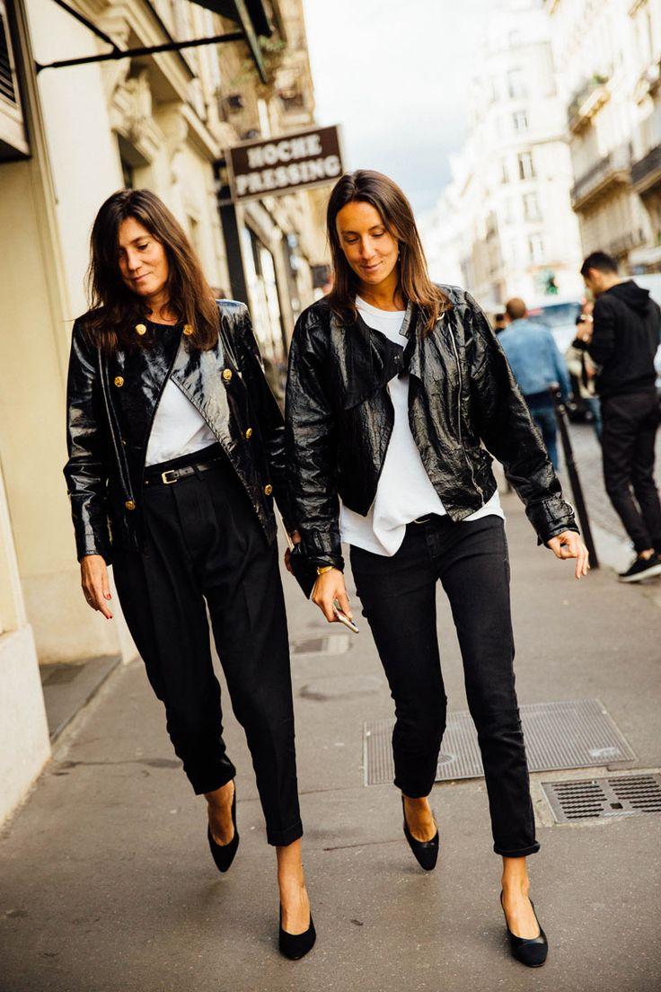 Emmanuelle Alt // Geraldine Saglio @ PFW
