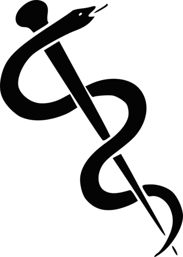 The Rod of Asclepius is a symbol associated with medicine and health care. The son of the god Apollo and the human princess Coronis, Asclepius was the Greek demigod of medicine. According to mythology, he was able to restore the health of the sick and bring the dead back to life. Asclepius' rod is wrapped around by a snake because the old Greeks regarded snakes as sacred and used them in healing rituals.