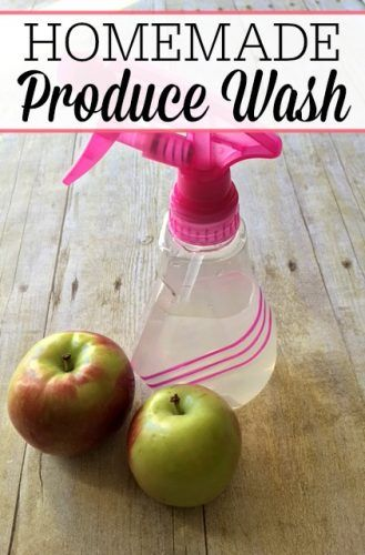 Don't just rinse your produce with water. You can get off more pesticides and germs with this easy homemade produce wash. It only takes a few seconds!