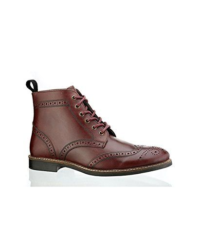 Men's Red Tape Brown Leather Boots Boots Boots Lace Up 'tiffey' Smart