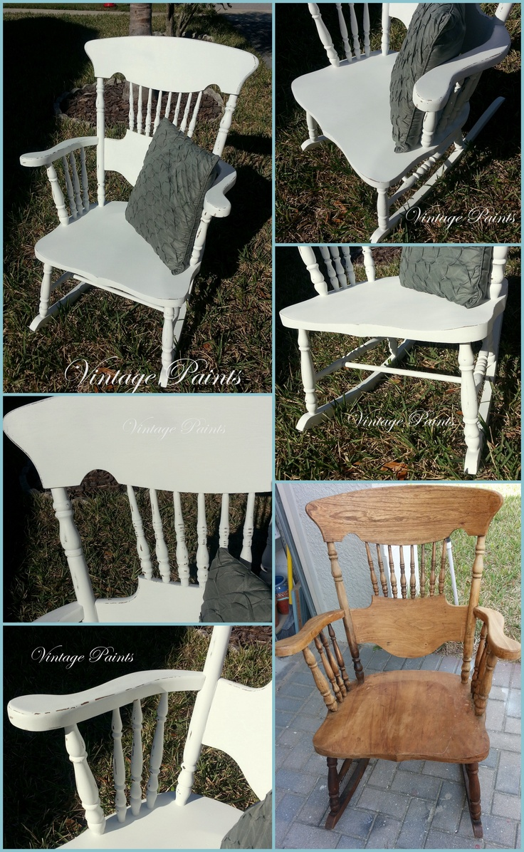 Chair shabby chic painted rocking chairs - White Shabby Chic Rocking Chair For A Baby Nursery
