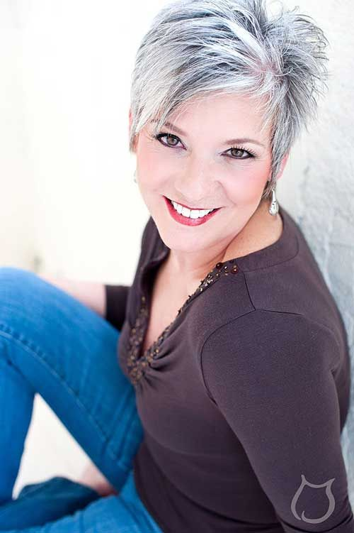 Short Haircuts for Silver Haired Women