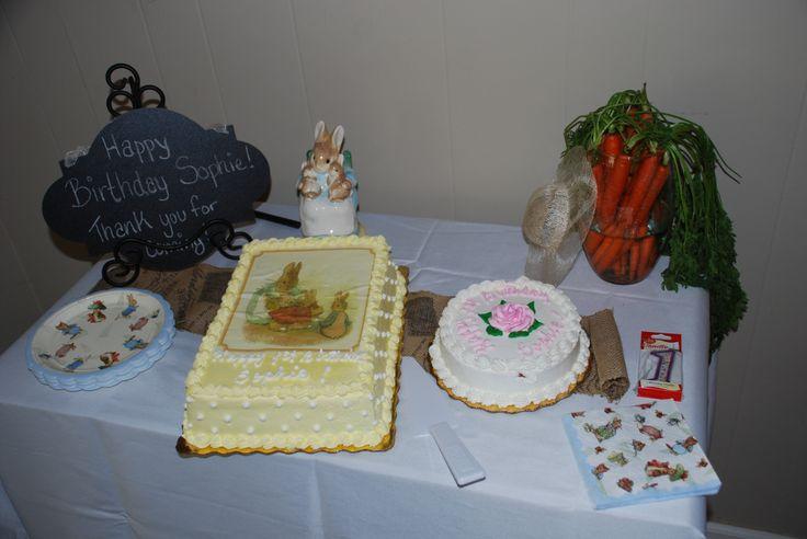 Beatrix potterpeter rabbit first birthday publix cake