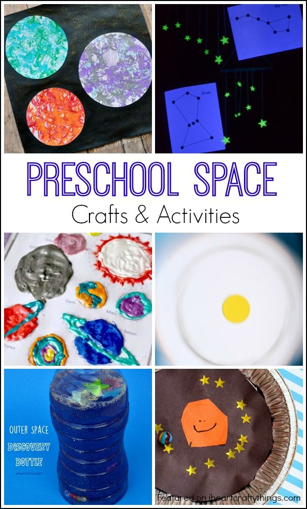 Preschool Space Crafts and Activities. Great for learning about outer space, the planets and constellations.