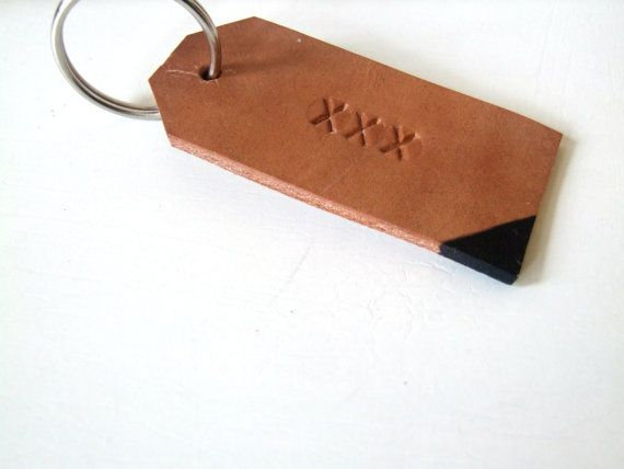 Personalized Leather Gift Tag Hand Stamped Leather by noraklotz