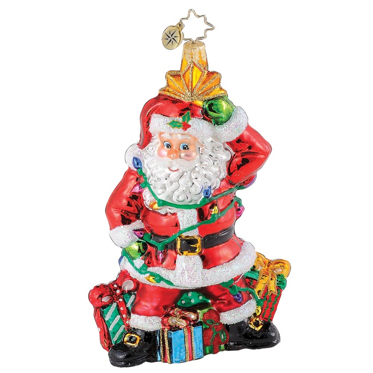 Image detail for -... Radko Ornaments > Santas Light Plight - Christopher Radko Ornament
