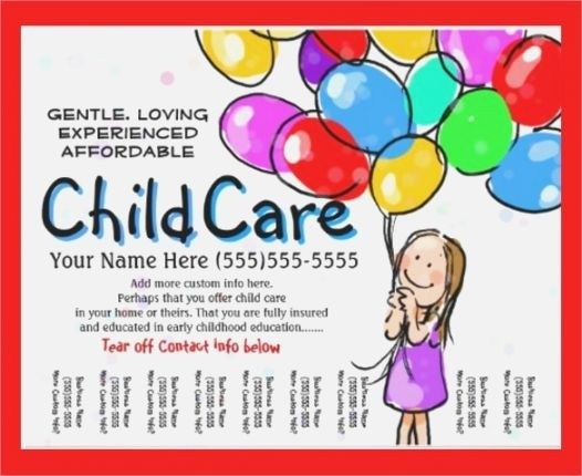 Free Printable Daycare Flyers Balepmidnightpigco Free Child Care Flyer Childcare